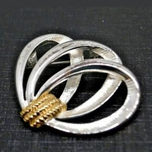 Swirly Silver and Gold Pin